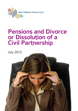 image of Pensions and Divorce & Dissolution of a Civil Partnership
