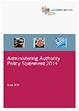 image of Administering Authority Policy Statement